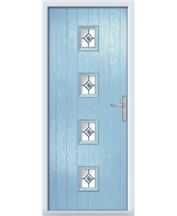 The Uttoxeter Composite Door in Blue (Duck Egg) with Blue Fusion Ellipse