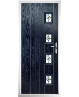 The Preston Composite Door in Blue with Green Fusion Ellipse