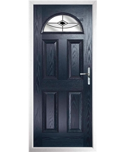 The Derby Composite Door in Blue with Black Fusion Ellipse