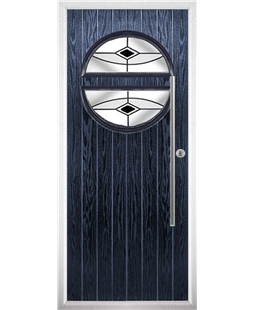 The Xenia Composite Door in Blue with Black Fusion Ellipse