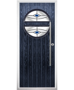 The Xenia Composite Door in Blue with Blue Fusion Ellipse