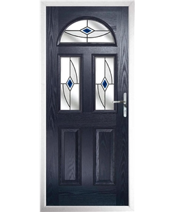 The Glasgow Composite Door in Blue with Blue Fusion Ellipse