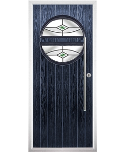 The Xenia Composite Door in Blue with Green Fusion Ellipse