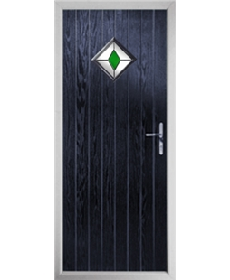 The Reading Composite Door in Blue with Green Diamond