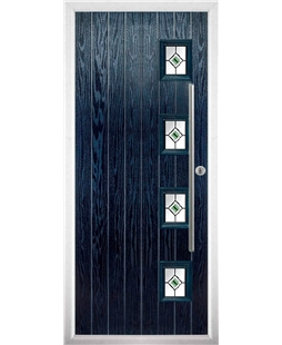 The Norwich Composite Door in Blue with Green Fusion Ellipse
