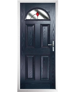 The Derby Composite Door in Blue with Red Diamonds