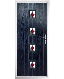The Uttoxeter Composite Door in Blue with Red Diamonds