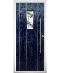The Zetland Composite Door in Blue with Simplicity