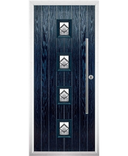 The Leicester Composite Door in Blue with Simplicity