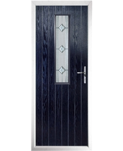 The Sheffield Composite Door in Blue with Simplicity