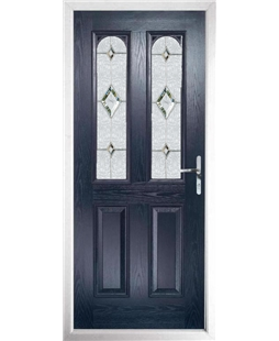 The Aberdeen Composite Door in Blue with Crystal Diamond