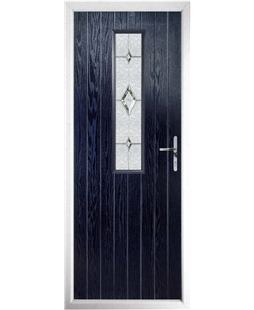 The Sheffield Composite Door in Blue with Crystal Diamond