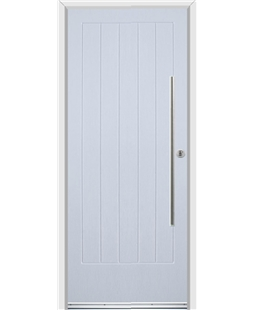 Ultimate Indiana Rockdoor in Blue White with Bar Handle