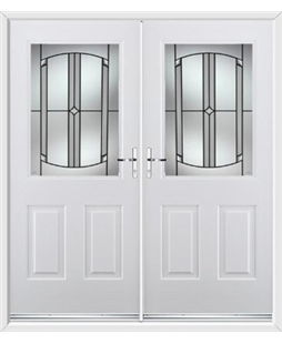 Windsor French Rockdoor in Blue White with Ellipse