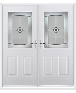 Windsor French Rockdoor in Blue White with Summit