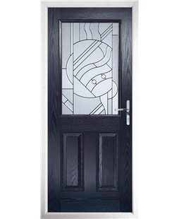 The Farnborough Composite Door in Blue with Zinc Art Abstract