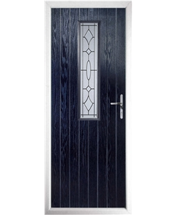 The Sheffield Composite Door in Blue with Zinc Art Clarity