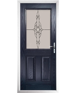 The Farnborough Composite Door in Blue with Crystal Simplicity