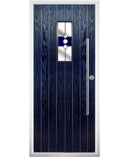 The Zetland Composite Door in Blue with Blue Crystal Bohemia