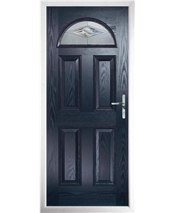 The Derby Composite Door in Blue with Belgravia