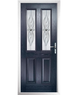 The Cardiff Composite Door in Blue with Westminster