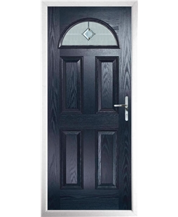 The Derby Composite Door in Blue with Cameo