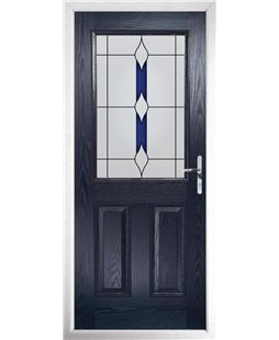 The Farnborough Composite Door in Blue with Blue Barcelona