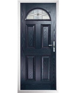 The Derby Composite Door in Blue with Black Daventry