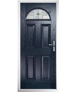 The Derby Composite Door in Blue with Green Daventry