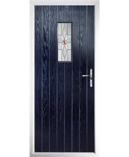 The Taunton Composite Door in Blue with Daventry Red