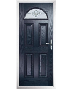 The Derby Composite Door in Blue with Eclipse