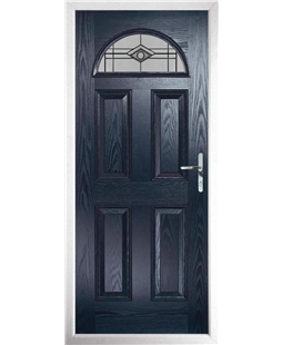 The Derby Composite Door in Blue with Fusion Graphite