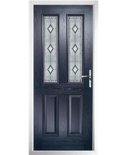 The Cardiff Composite Door in Blue with Ice