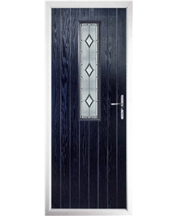 The Sheffield Composite Door in Blue with Ice