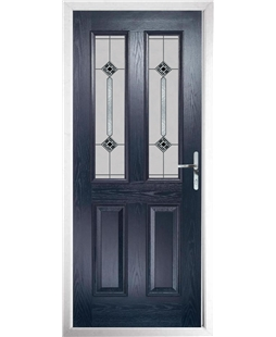 The Cardiff Composite Door in Blue with Infinity