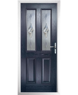 The Cardiff Composite Door in Blue with Knightsbridge