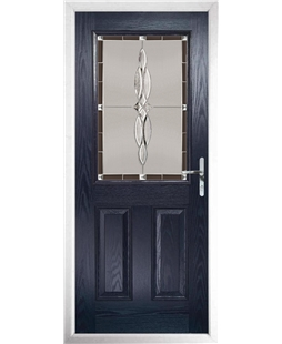 The Farnborough Composite Door in Blue with Black Luxury Crystal