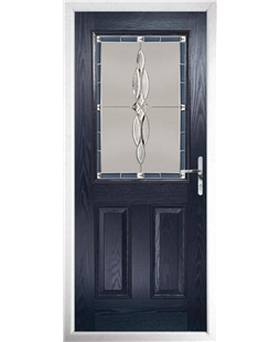 The Farnborough Composite Door in Blue with Blue Luxury Crystal