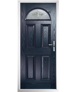 The Derby Composite Door in Blue with Mayfair