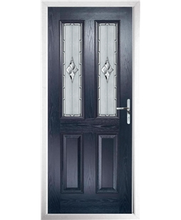 The Cardiff Composite Door in Blue with Radiance