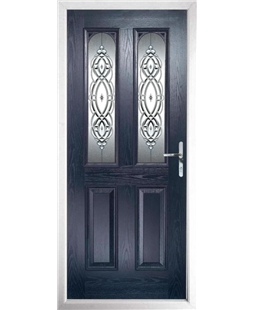 The Aberdeen Composite Door in Blue with Reflections