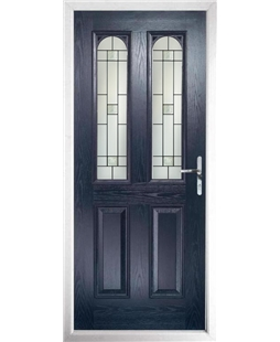 The Aberdeen Composite Door in Blue with Tate