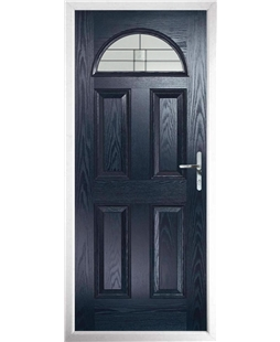 The Derby Composite Door in Blue with Tate