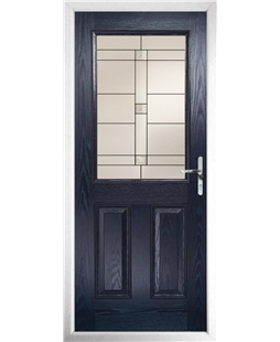 The Farnborough Composite Door in Blue with Tate