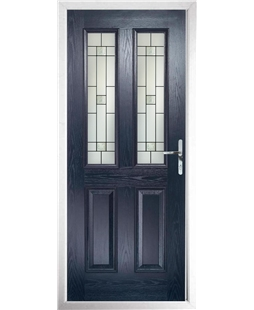 The Cardiff Composite Door in Blue with Tate
