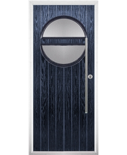 The Xenia Composite Door in Blue with Clear Glazing