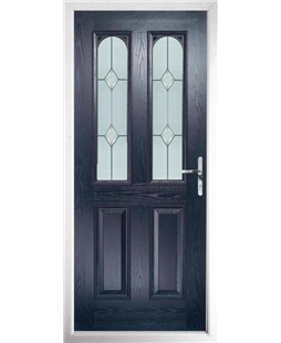 The Aberdeen Composite Door in Blue with Classic Glazing