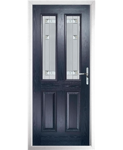 The Cardiff Composite Door in Blue with Milan Glazing