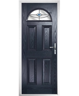 The Derby Composite Door in Blue with Blue Fusion Ellipse