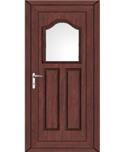 Bradford Glazed uPVC High Security Door In Rosewood